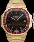 PATEK 5723/1R 18K ROSE GOLD NAUTILUS RUBY BEZEL EDITION OF 5