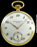 PATEK PHILIPPE POCKET WATCH FEATURING APPLLIED BREGUET NUMBERS 18K CIRCA 1910