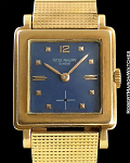 PATEK PHILIPPE SQUARE BLUE DIAL 18K ROSE GOLD