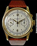 PATEK PHILIPPE VINTAGE REF. 530 OVERSIZED UNPOLISHED 18K CHRONOGRAPH 22MM LUGS