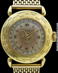PP WORLDTIME 18K SIGNATURE LE PALAIS HOTEL, HAVANA, ORIGINAL GOLD BRACELET