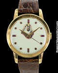 PATEK PHILIPPE 2481 18K ROSE ENAMEL KING SAUD DIAL 37MM UNPOLISHED 1955