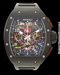 RICHARD MILLE RM011-FM FELIPE MASSA CARBON FLYBACK CHRONOGRAPH BOX PAPERS