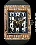 RICHARD MILLE RM016 18K ROSE GOLD DIAMOND EXTRA-FLAT AUTOMATIC NEW