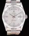ROLEX PLATINUM DAY DATE FACTORY DIAMOND DIAL