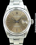 ROLEX DATE 1500 STEEL GREY DIAL AUTOMATIC 1970