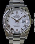 ROLEX DATEJUST 116200 STEEL NEW BOX PAPERS