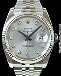 ROLEX DATEJUST 116234 STEEL/18K WHITE GOLD BOX & PAPERS