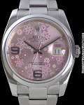 ROLEX DATEJUST REF 116244 STEEL PINK FLORAL ARABIC DIAL