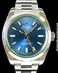 ROLEX 116400GV MILGAUSS BLUE DIAL BOX PAPERS