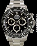 ROLEX 116500LN DAYTONA BLACK CERAMIC BEZEL AUTOMATIC STEEL NEW BOX & PAPERS