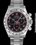 ROLEX DAYTONA 116509 18K WHITE GOLD BLACK/RED DIAL BOX PAPERS