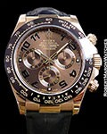 ROLEX EVEROSE CHOCOLATE DAYTONA 116515 18K ROSE BOX & PAPERS
