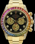 ROLEX 116598RBOW DAYTONA RAINBOW BOX PAPERS