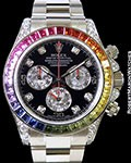 ROLEX 116599RBOW RAINBOW DAYTONA BAGUETTE DIAMONDS & SAPPHIRES NEW