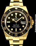ROLEX 116618LN SUBMARINER 18K CERAMIC NEW