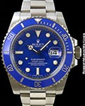 ROLEX 116619 SUBMARINER 18K WHITE GOLD BLUE DIAL