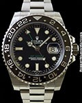 ROLEX 116710 GMT MASTER II BLACK CERAMIC STEEL NEW BOX & PAPERS