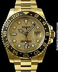 ROLEX GMTII 116718 18K PAVE DIAMOND DIAL NEW BOX & PAPERS