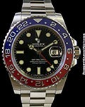 ROLEX 116719 GMT II 18K WHITE GOLD BLUE/RED CERAMIC BEZEL