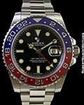 ROLEX 116719 GMT II 18K WHITE GOLD BLUE/RED CERAMIC BEZEL