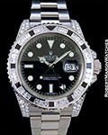 ROLEX 116759SANR GMT II 18K WHITE GOLD DIAMONDS BLACK SAPPHIRES BOX PAPERS