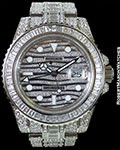 ROLEX GMT MASTER II ICE 116769TBR 18K WHITE GOLD PAVE DIAMONDS