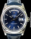 ROLEX 118139 DAY DATE PRESIDENT 18K WHITE GOLD NEW BOX & PAPERS