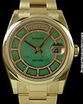 ROLEX CAROUSEL OF GREEN JADE DAY DATE PRESIDENT 118208 BRAND NEW BOX & PAPERS