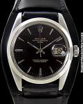 ROLEX REF 1500 DATE BLACK DIAL CIRCA 1966