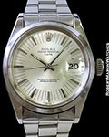 ROLEX DATE 1500 SILVER RADIAL DIAL STEEL AUTOMATIC