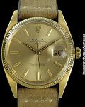ROLEX REF 1503 DATE GOLD DIAL 18K