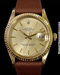 ROLEX GENERAL MOTORS FINAL STRIDE 15038 18K W/ PAPERS 1985