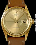 ROLEX 1510 OYSTER PERPETUAL DATE ZEPHYR DIAL 18K AUTOMATIC