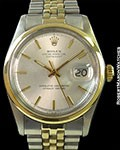 ROLEX DATEJUST 1600 SMOOTH BEZEL 18K/STEEL