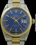 ROLEX REF 1601 DATEJUST 18K/STAINLESS STEEL