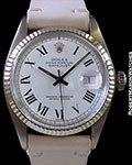 ROLEX 1601 DATEJUST FLUTED BEZEL STAINLESS AUTOMATIC