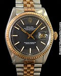 ROLEX DATEJUST 1601 18K ROSE/STEEL 1975