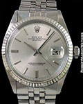 ROLEX 1601 DATEJUST STAINLESS AUTOMATIC FLUTED BEZEL