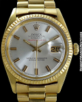 ROLEX REF 1601 DATEJUST 18K WIDE BOY DIAL STAMPED SERPICO Y LAINO