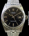 ROLEX 1601 DATEJUST STEEL/18K WHITE GOLD BOX & PAPERS