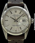 ROLEX DATEJUST 1601 18K WHITE GOLD/STEEL