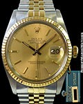 ROLEX 16013 DATEJUST 18K/STEEL QUICKSET