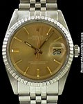 ROLEX 1603 DATEJUST BRONZE COLOR DOOR STOP SIGMA DIAL STEEL