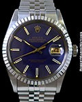 ROLEX 16030 DATEJUST STEEL BLUE DIAL BOX & PAPERS
