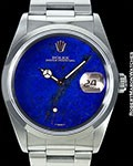 ROLEX DATEJUST LAPIS LAZULI DIAL 16200 UNPOLISHED STEEL B/P