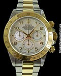 ROLEX 16523 COSMOGRAPH DAYTONA 18K YG & STAINLESS AUTOMATIC