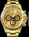 ROLEX 16528 AUTOMATIC DAYTONA 4 LINE DIAMOND DIAL UNPOLISHED 18K