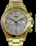 ROLEX 16528 18K AUTOMATIC DAYTONA PAVE DIAMOND EMERALD DIAL NEW