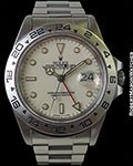 ROLEX 16550 EXPLORER II CREAM DIAL STAINLESS AUTOMATIC